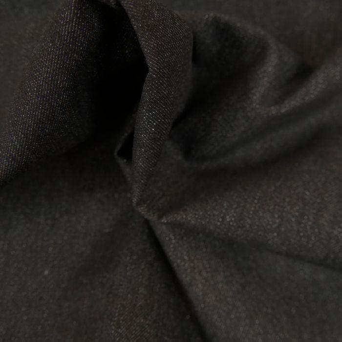 Tissu Jean Denim - Lurex - Noir x 10 cm
