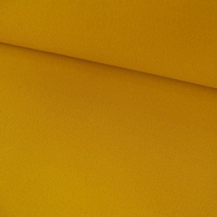 Tissu crêpe lourde uni stretch - Jaune x 10 cm