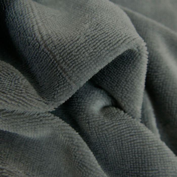 Tissu Eponge Oeko-Tex Bambou - Gris Foncé x 10 cm