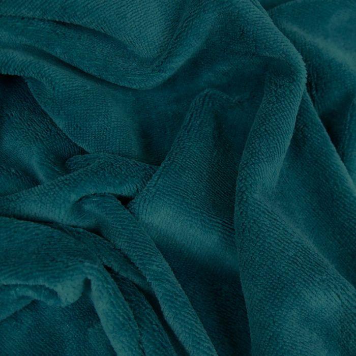 Tissu Eponge Oeko-Tex Bambou - Bleu Canard x 10 cm