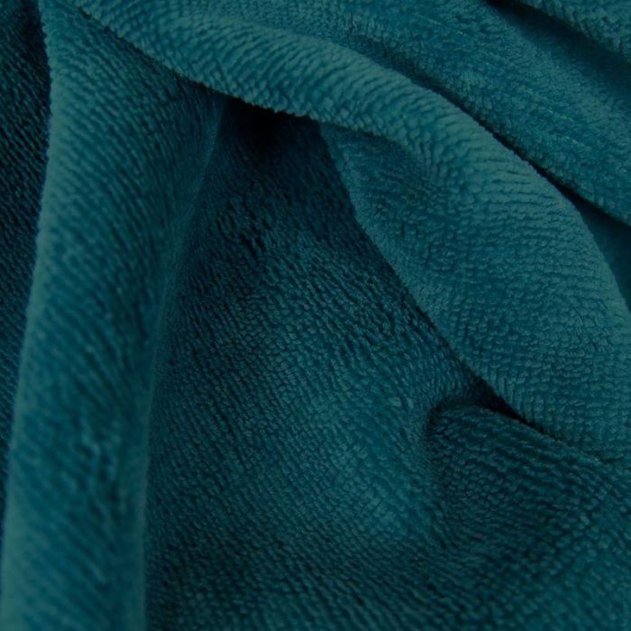 Tissu micro éponge bambou Oeko-Tex - Bleu Canard x 10 cm