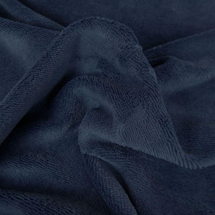 Tissu Eponge Oeko-Tex Bambou - Indigo x 10 cm