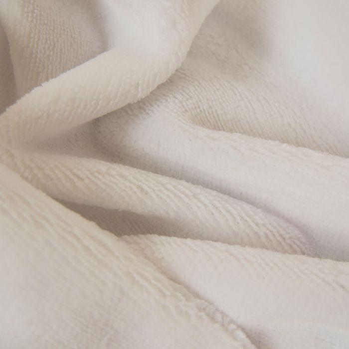 Tissu micro éponge bambou Oeko-Tex - Blanc x 10 cm
