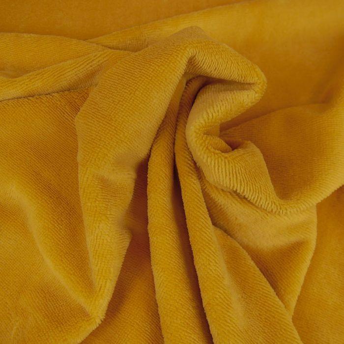 Tissu Eponge Oeko-Tex Bambou - Moutarde x 10 cm