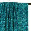 Tissu maillot de bain flammes turquoise - bleu x 10 cm
