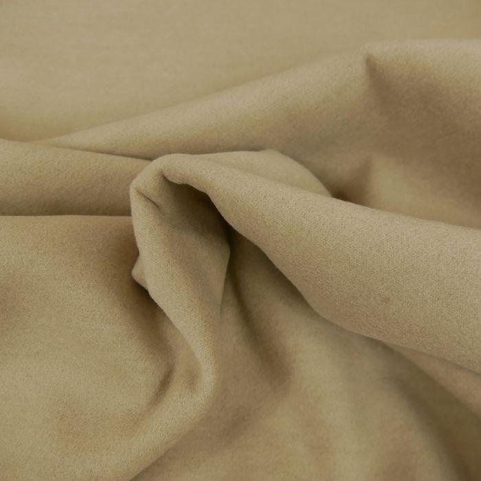 Tissu lainage polyester uni - sable x 10 cm