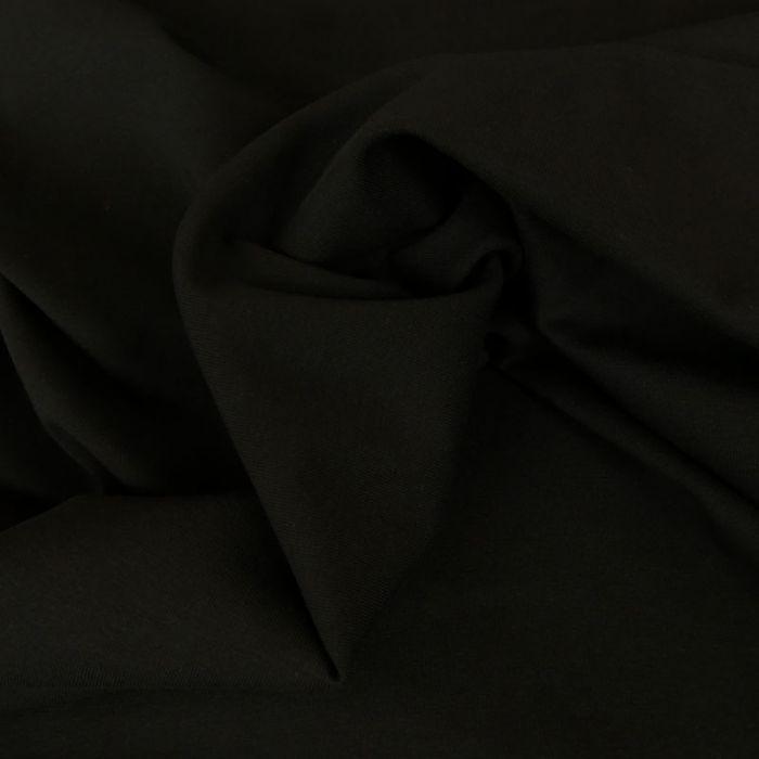 Coupon x 75 cm - Jersey coton uni noir