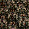 Tissu viscose fine zèbres - Marine x 10 cm