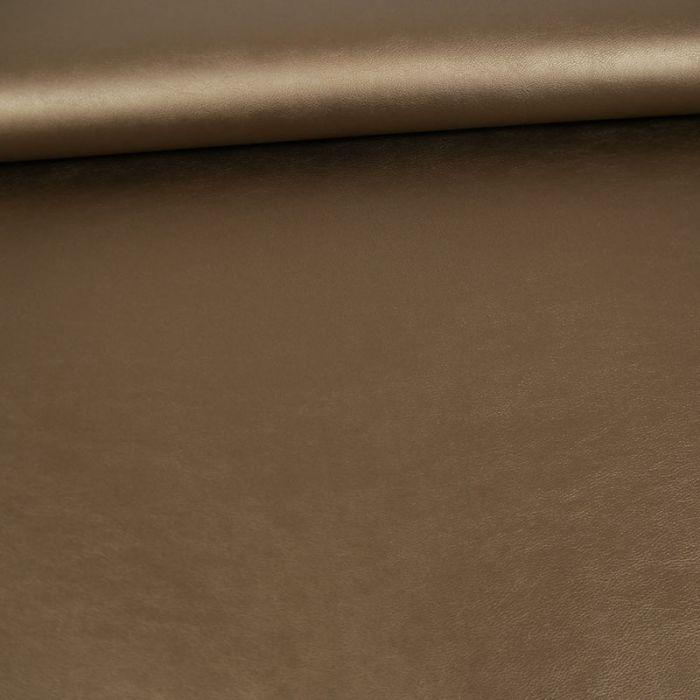 Coupon x 55 cm - Simili cuir souple bronze