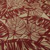 Tissu coton oeko-tex feuillages - rouille x 10cm