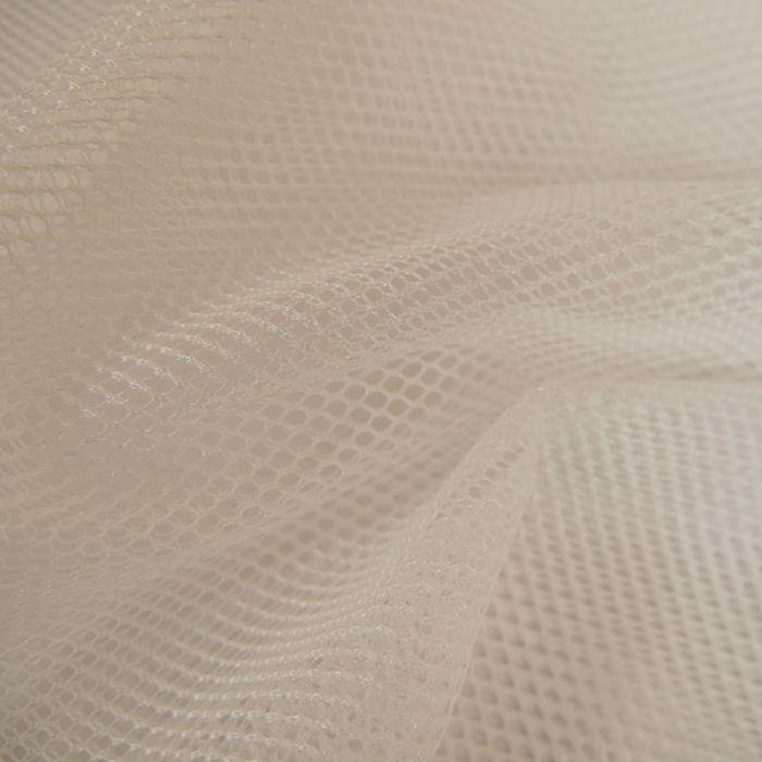 Tissu Filet Mesh - Blanc x 10 cm