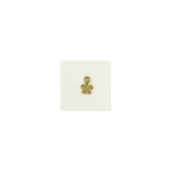 Breloque fleur 10mm dorée x1