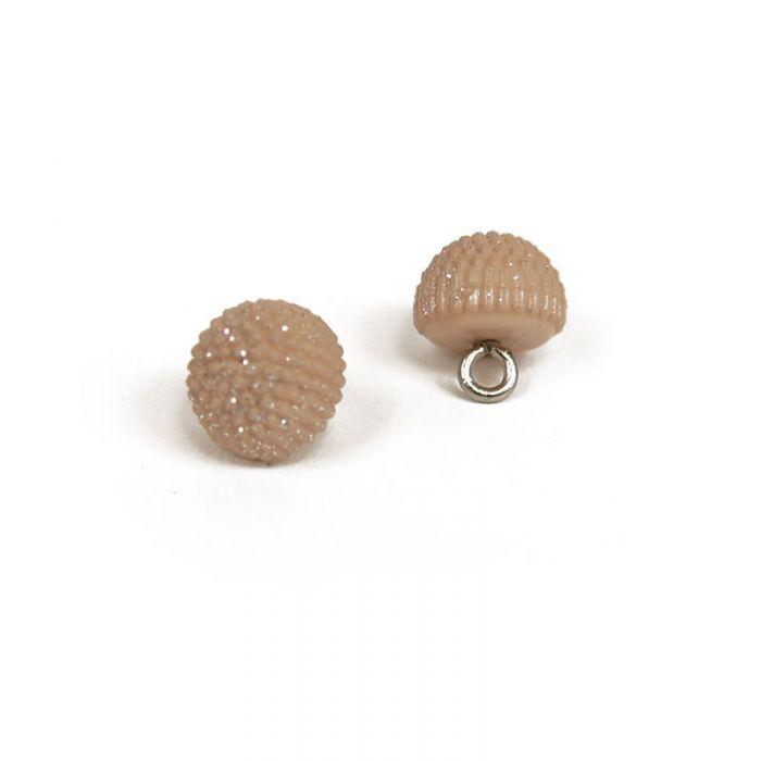 Bouton à pied boule à paillettes 10 mm x1