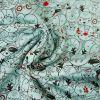 Tissu jersey fin animaux - vert d'eau x 10 cm