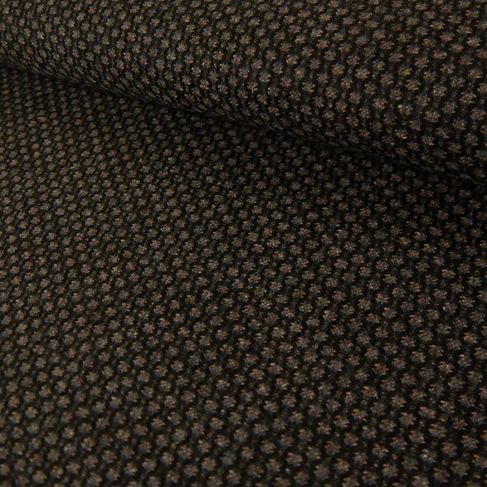 Tissu laine géométrique - Brun foncé x 10 cm