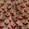 Tissu Toile de Coton Tulipes - Beige - Poppy x 10 cm