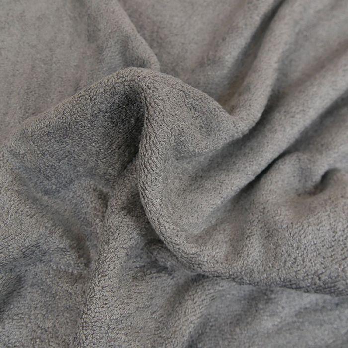 Coupon x 70 cm - Tissu Eponge Oeko-Tex Bambou Gris