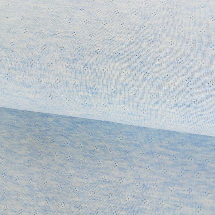 Coupon x 95 cm - Jersey ajouré oeko-tex Stenzo bleu