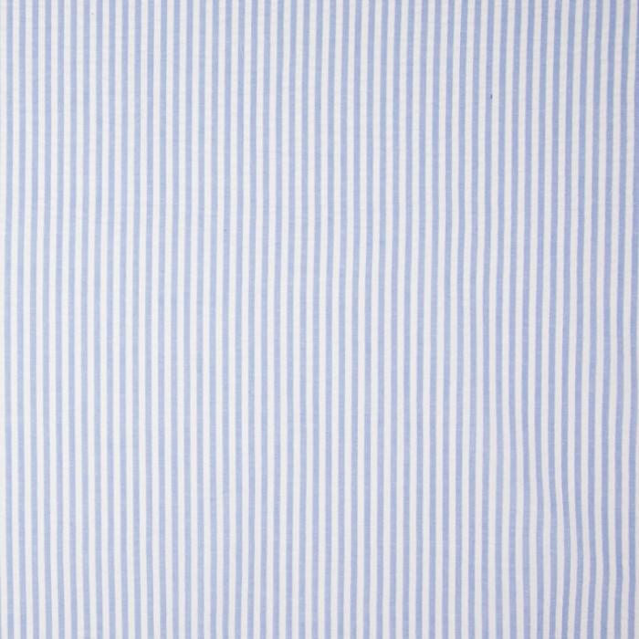Coupon x 90 cm - Seersucker rayures bleu ciel