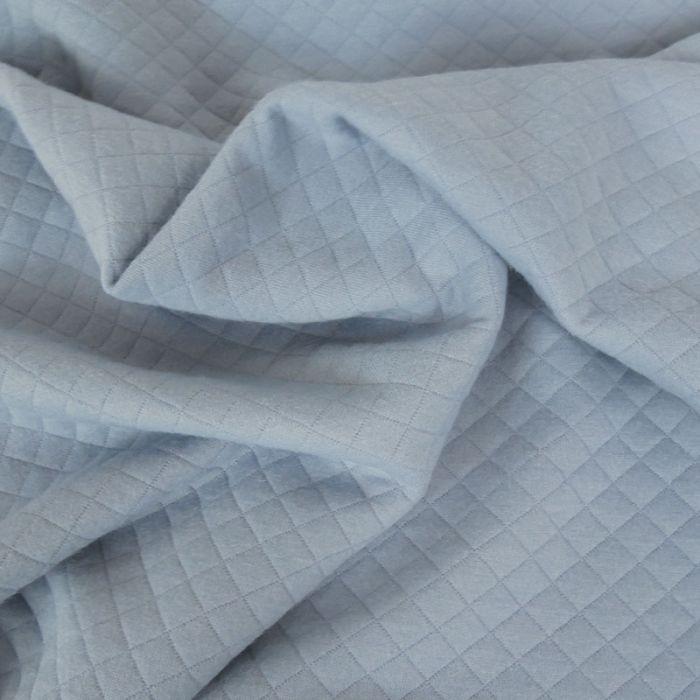 Coupon x 1 m - Jersey matelassé bleu