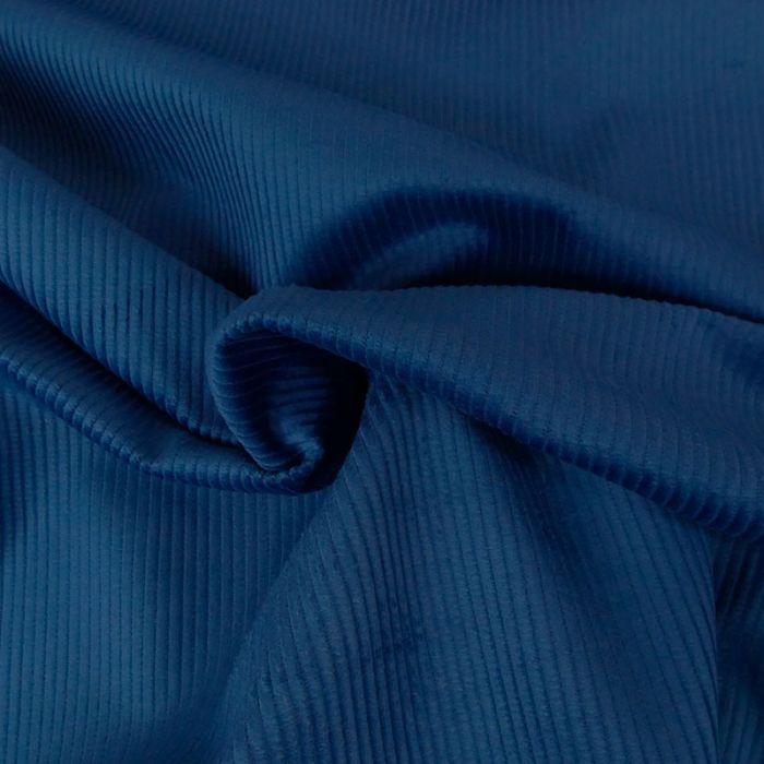 Coupon x 85 cm - Velours côtelé bleu