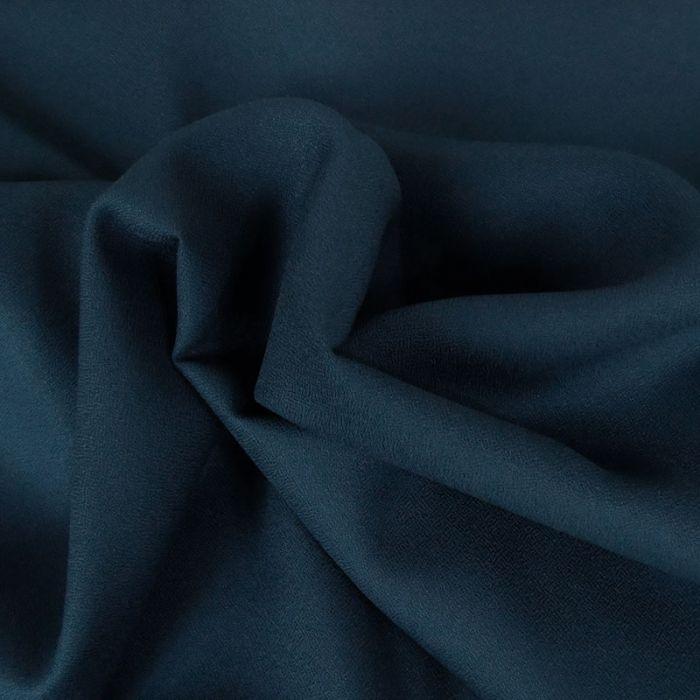 Coupon x 1 m - Crêpe viscose haute couture bleu cobalt