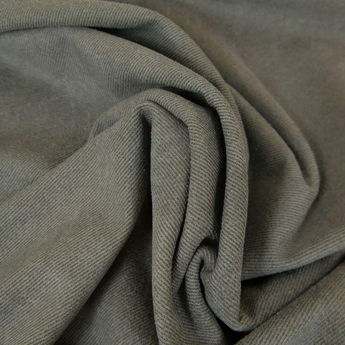 Tissu suédine twill - gris x 10 cm