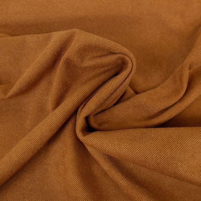 Tissu suédine twill - rouille x 10 cm