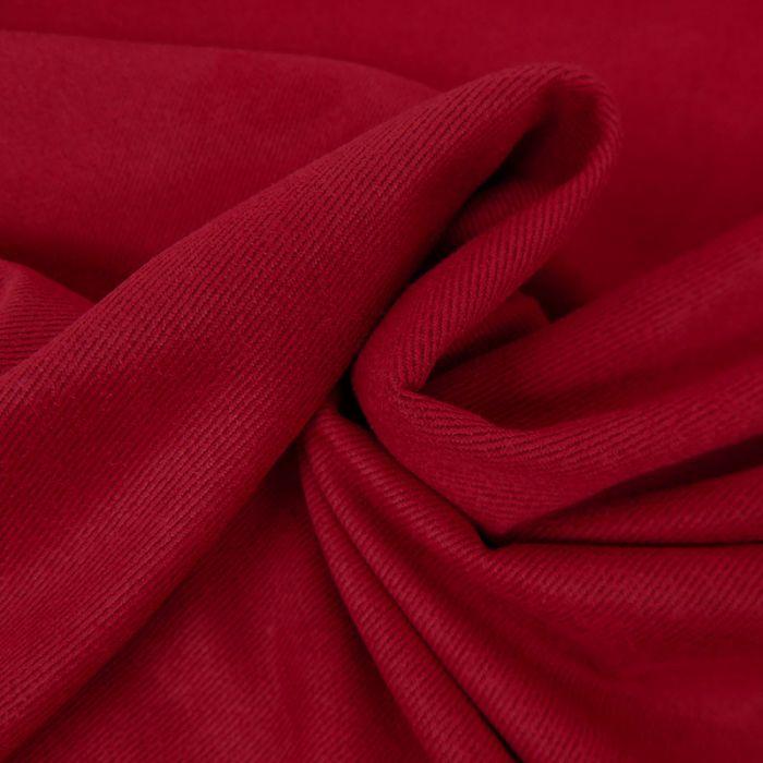 Tissu suédine twill - rouge x 10 cm