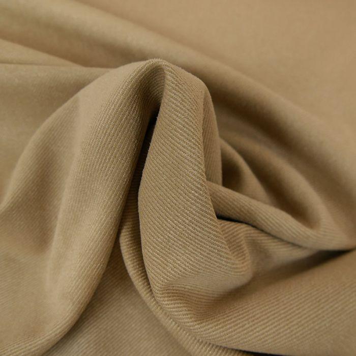 Tissu suédine twill - beige x 10 cm