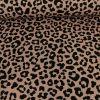 Tissu jersey sweat léopard - saumon x 10 cm