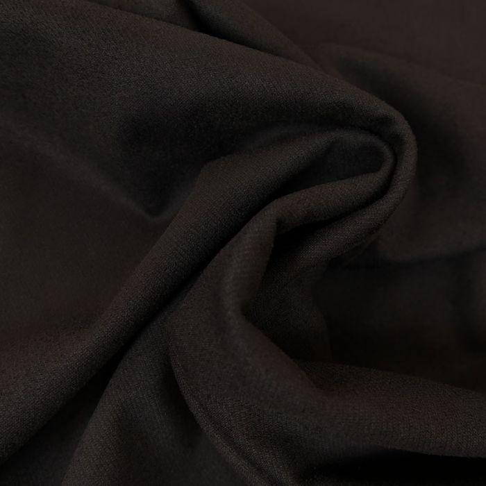 Tissu suédine twill - noir x 10 cm