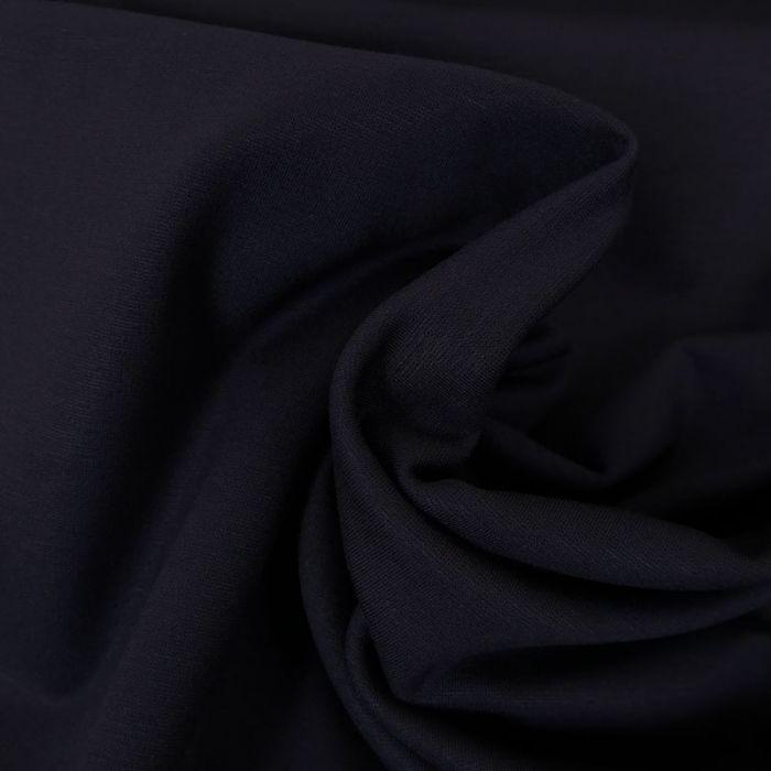 Tissu jersey punto viscose - marine x 10 cm