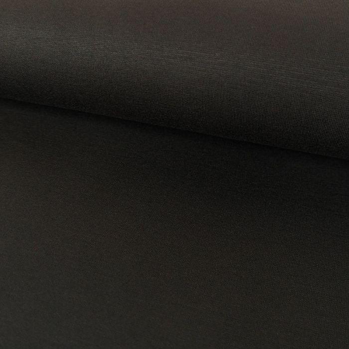 Tissu jersey punto viscose - noir x 10 cm