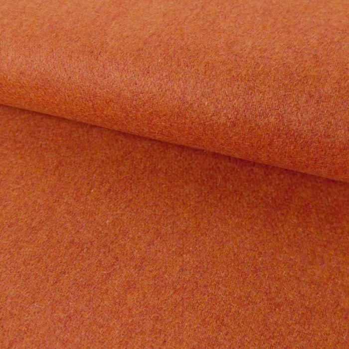 Tissu lainage fin - orange chiné x 10 cm