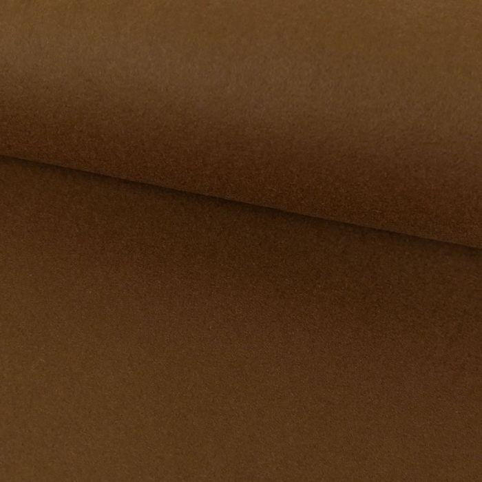 Tissu lainage - marron x 10 cm