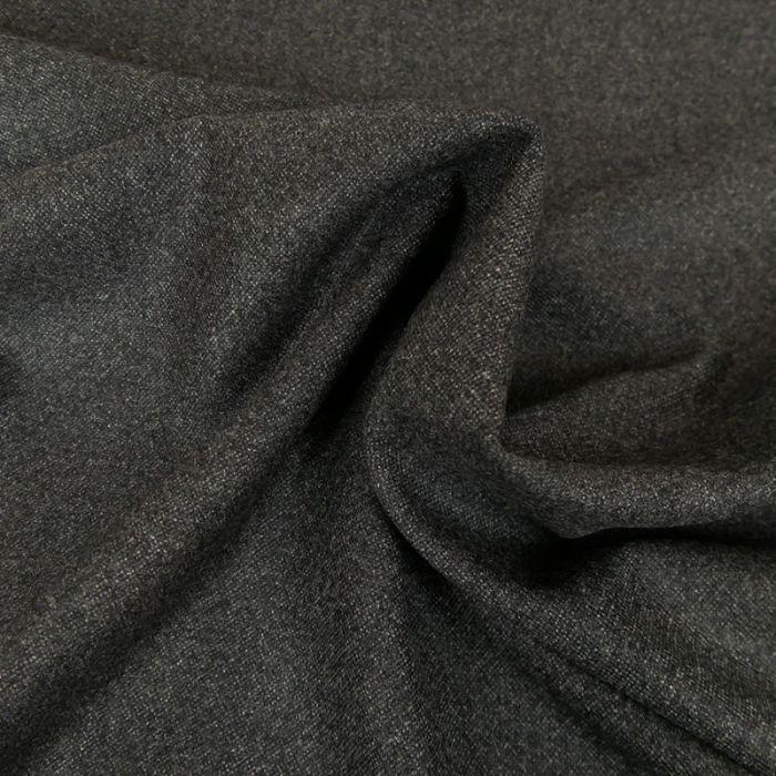 Tissu lainage - gris foncé x 10 cm