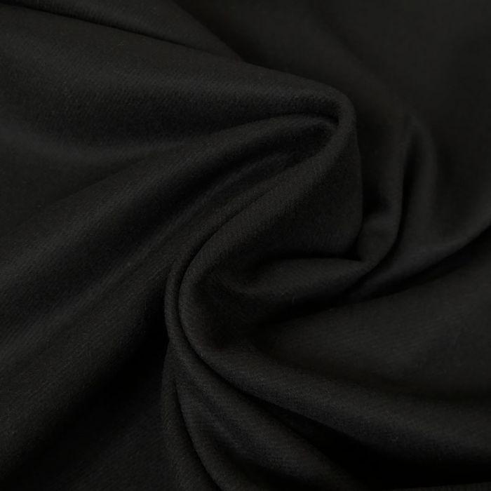 Tissu lainage - noir x 10 cm