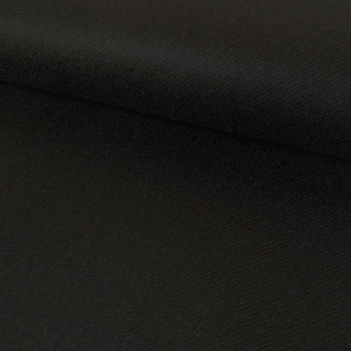 Tissu lainage sergé - noir x 10 cm