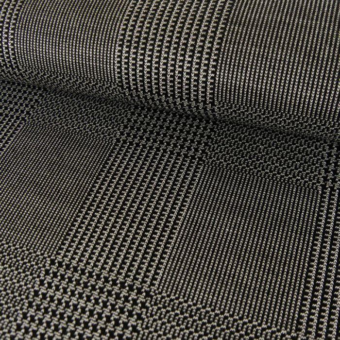 Tissu viscose élasthanne prince de Galles - noir x 10 cm