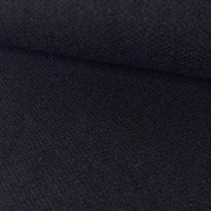 Tissu lainage fin - marine x 10 cm
