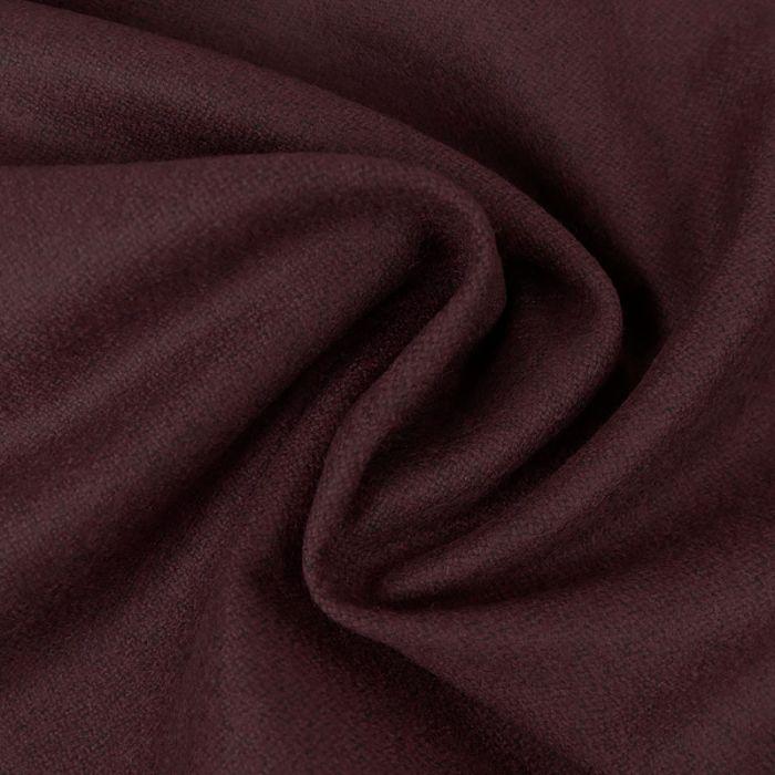 Tissu lainage fin chiné - aubergine x 10 cm