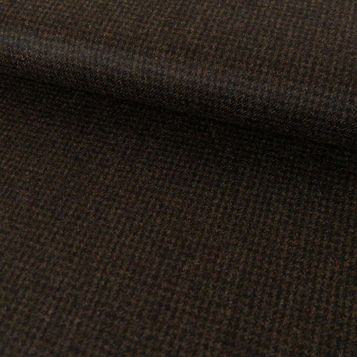 Tissu lainage fin petits carreaux - marron foncé x 10 cm