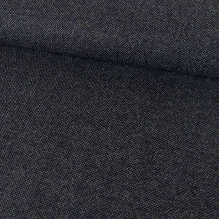 Tissu lainage fin - bleu chiné x 10 cm