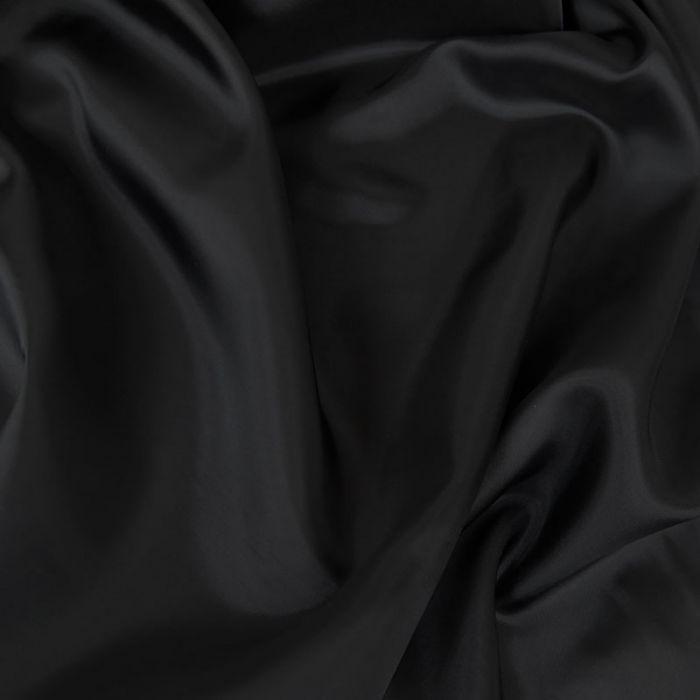 Tissu doublure viscose - noir x 10 cm