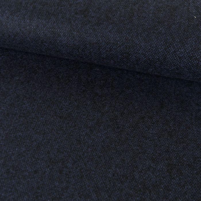 Tissu lainage fin chiné - bleu x 10 cm