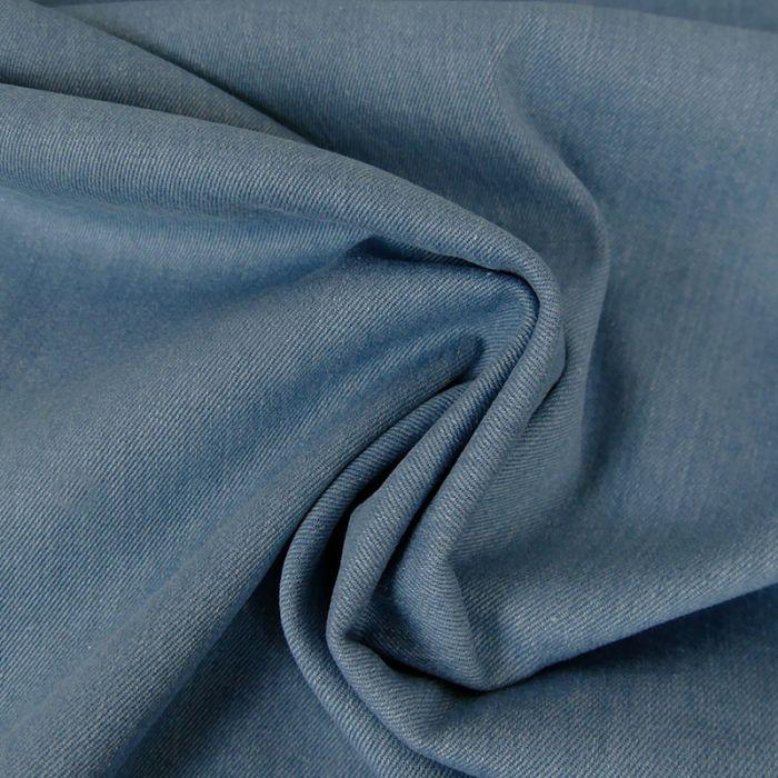 Tissu jean denim élasthanne - bleu clair x 10 cm