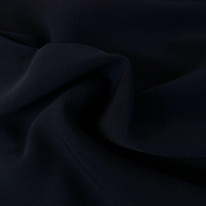 Tissu crêpe légère stretch - marine x 10 cm