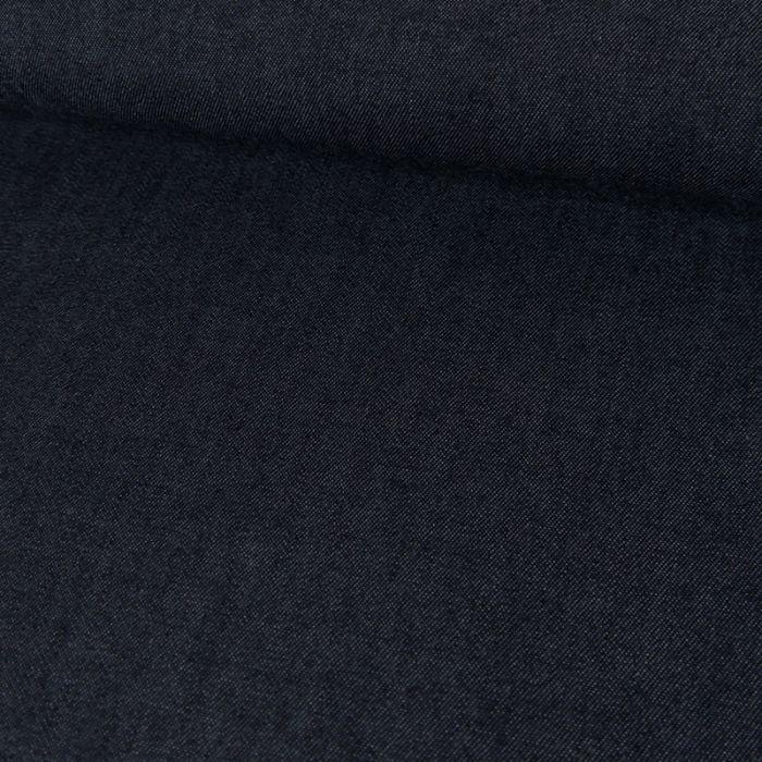 Tissu Coton et Lin - Bleu Foncé x 10 cm