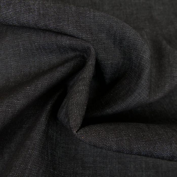 Tissu denim - noir x 10 cm